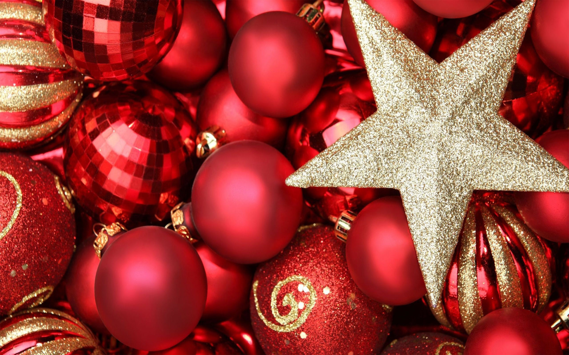 1920x1200 christmas ornaments wallpapers - Red Christmas Ornaments