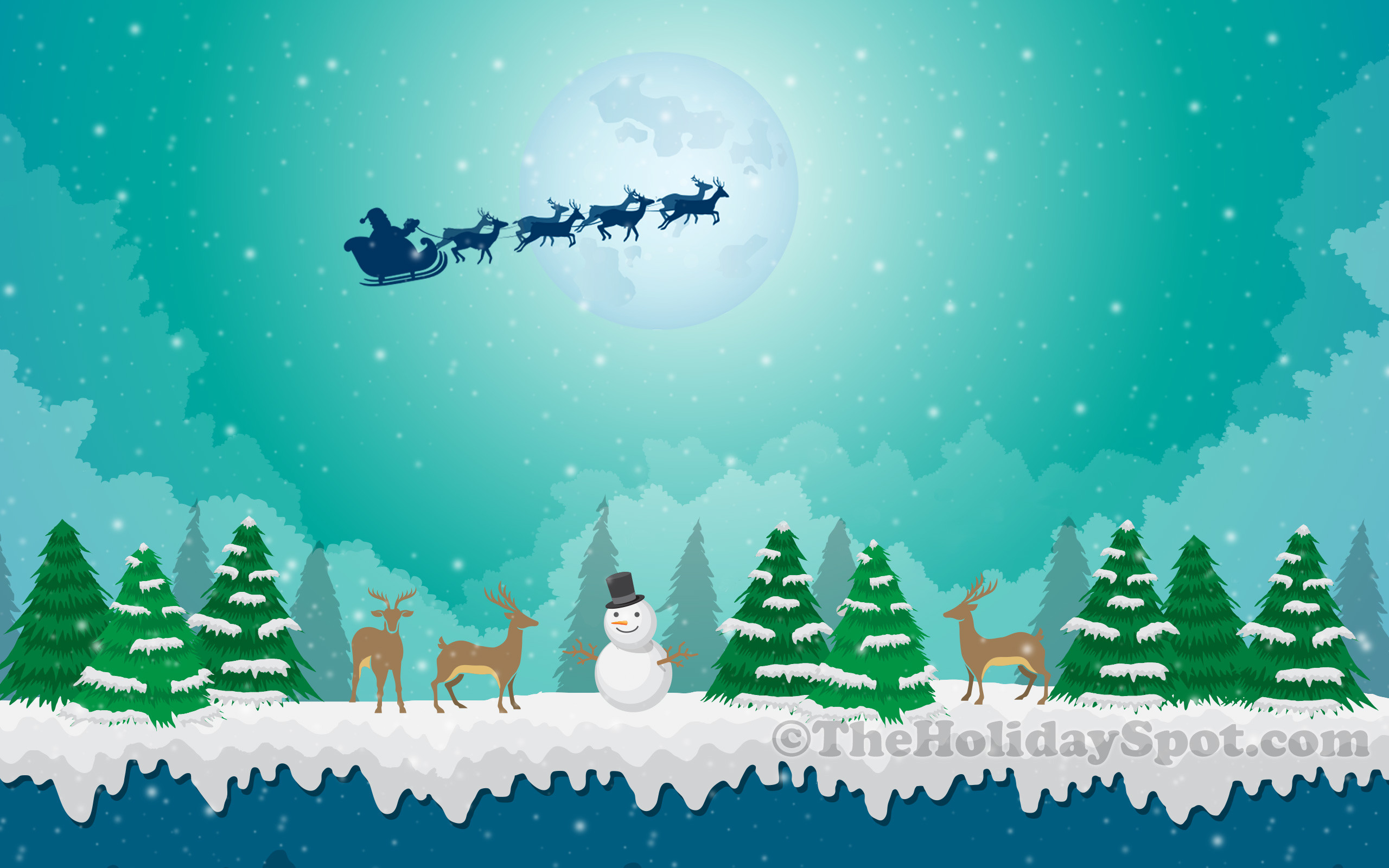 Snowing Christmas Scene.Wallpapers Christmas Scenes 46 Background Pictures