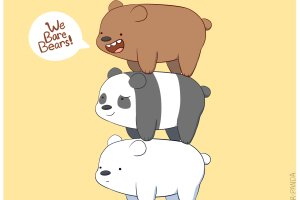 amazing we bare bears wallpapers 2396x2000