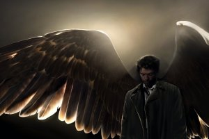 large supernatural wallpapers castiel 1920x1080 Desktop
