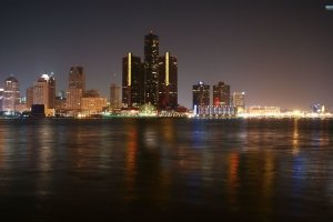 download detroit skyline wallpapers 2560x1600 for retina