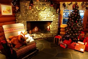 popular christmas fireplace wallpapers 2560x1600 for samsung